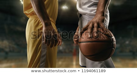 Close up on basketball player holding a ball Stock photo © wavebreak_media