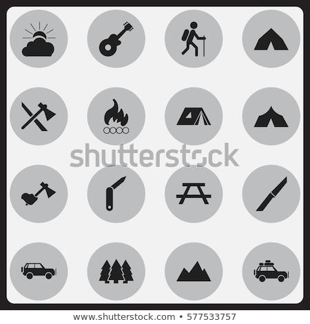 Stock photo: Camping axe  icon