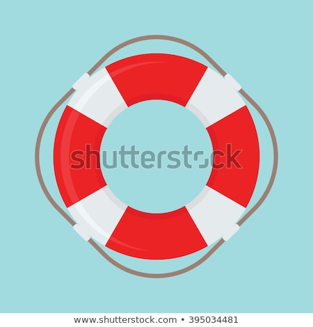 Cankurtaran simidi beyaz plaj su güvenlik gemi Stok fotoğraf © m_pavlov