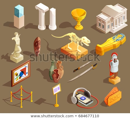 museum item ancient object vector illustration stock photo © robuart