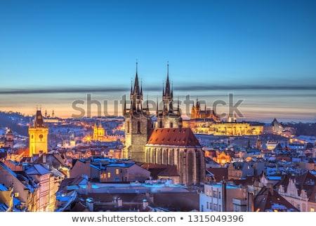 Velho cidade Praga ver catedral água Foto stock © Givaga