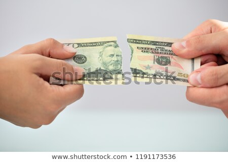 Two Businesspeople Holding Torn Banknote Stock photo © AndreyPopov