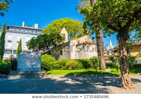Chapel in mediterranean park of Lovran view Stock photo © xbrchx