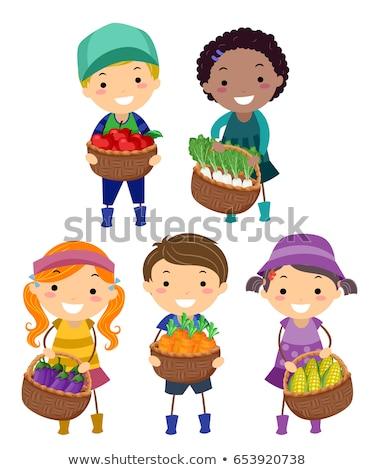 succo · verdura · due · colorato · disegno - foto d'archivio © lenm