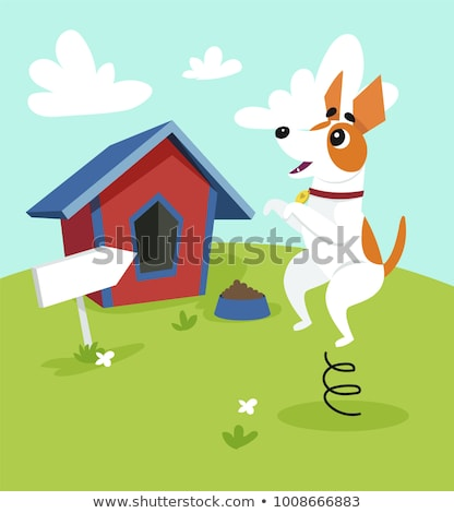 Cartoon Jack Russell Terrier Food Stock photo © cthoman