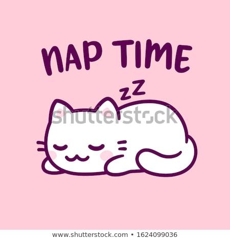Cartoon Kitten Napping Stock photo © cthoman