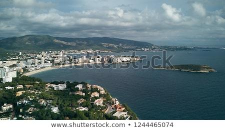 Moody cloudy sky over the Palma Nova coastline, Majorca. Spain Stock photo © amok