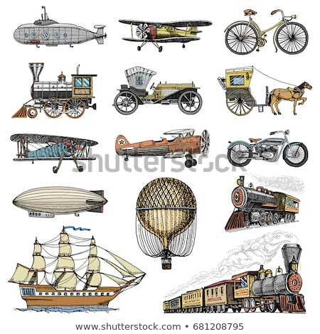 set of classic airplane stock photo © bluering