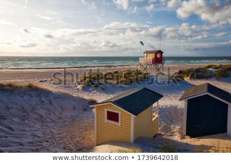 Lifeguard hut by the ocean Stock photo © colematt