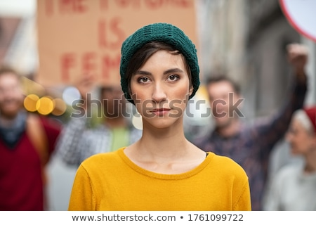 Portrait of woman outdoors stock photo © Lopolo