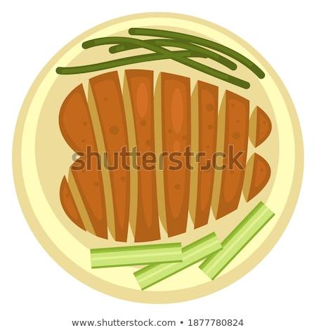 телятина · иллюстрация · пластина · мяса - Сток-фото © robuart