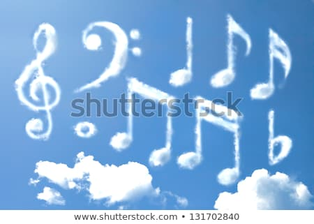 Musical Notes Symbol Shaped Cloud Stock photo © make