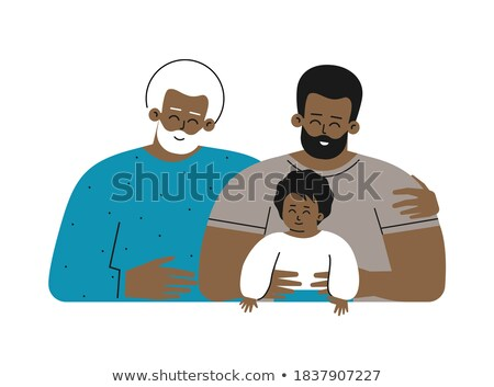 African American Generation Male Vector. Grandfather, Father, Son, Grandson, Baby Vector. Isolated I Stock photo © pikepicture