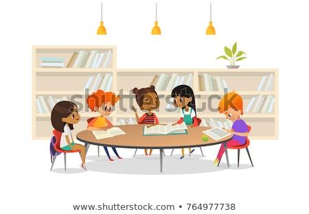 kitaplar · raflardan · örnek · okul · çocuk · boyama - stok fotoğraf © artisticco