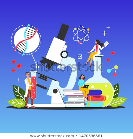 medical laboratory   modern line design style illustration stock photo © decorwithme