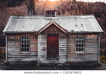 Wood cabin with many windows Stock photo © colematt