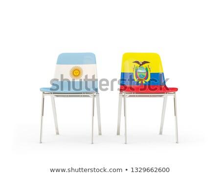 два стульев флагами Аргентина Эквадор изолированный Сток-фото © MikhailMishchenko