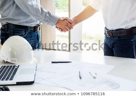 építészet otthon rendbehoz terv partner kéz Stock fotó © snowing