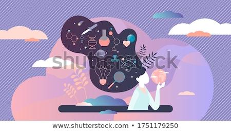 科学 科学 化学 男 現代 ストックフォト © cienpies