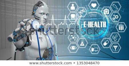 Humanoid Robot Stethoscope E-Health Stock photo © limbi007