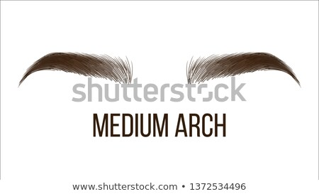 medium arch brows shape vector web banner template Сток-фото © pikepicture