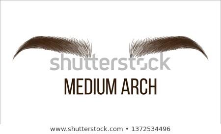 Stock photo: Medium Arch Brows Shape Vector Web Banner Template