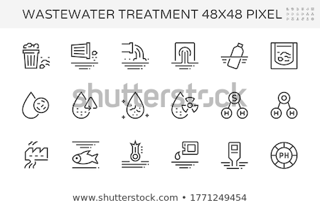 Trash from Pipe, Water Pollution, Tubes Vector Сток-фото © robuart
