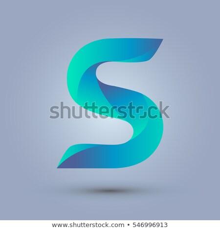 Blu gradiente lettera 3D rendering 3d illustrazione Foto d'archivio © djmilic