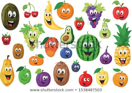 ingesteld · verschillend · vruchten · iconen · vegetarisch · eten · collectie - stockfoto © dejanj01