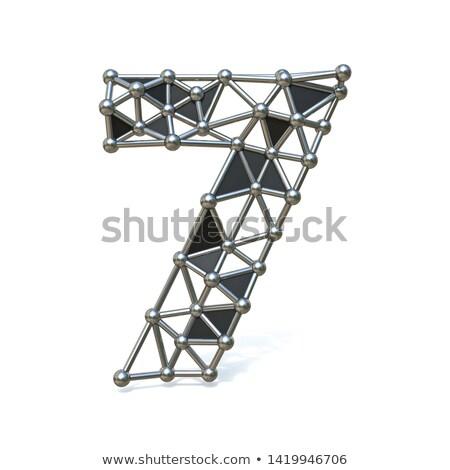 Filo basso nero metal numero sette Foto d'archivio © djmilic