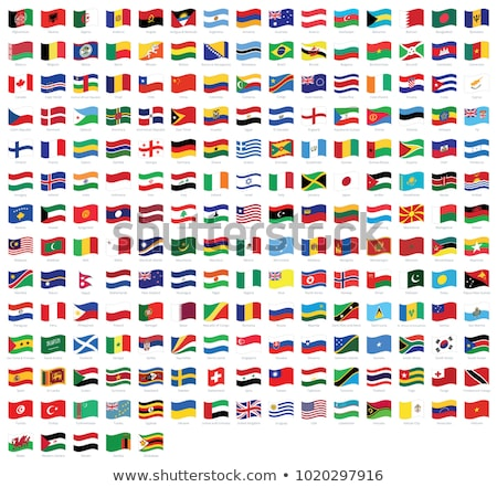 Foto stock: Conjunto · mundo · bandeiras · padrão · eps · 10
