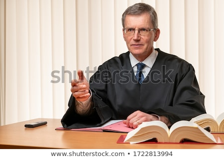 Stock photo: Male Judge In A Courtroom