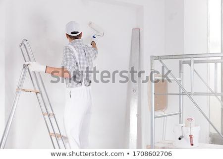 Malarz pracy ściany stałego pracy farby Zdjęcia stock © Kzenon