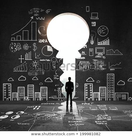 Solide onderwijs sterke cognitieve vaardigheden leren Stockfoto © Lightsource