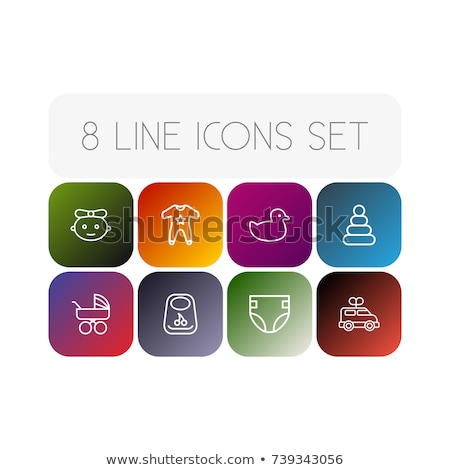 Diaper For Newborn Onboarding Elements Icons Set Vector Stock photo © pikepicture