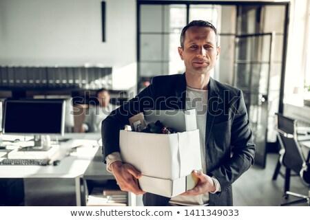 Iroda érett üzletasszony kabát váll lefelé Stock fotó © pressmaster