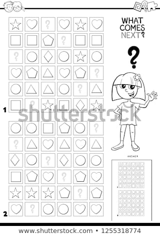 fill the pattern game for children coloring book page Stock photo © izakowski