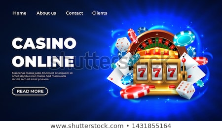 Man in Casino, Gambler by Slot Machine with 777 Stock photo © robuart