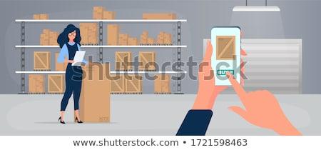 Fából készült fiók doboz csomag közlekedés konténer Stock fotó © designer_things