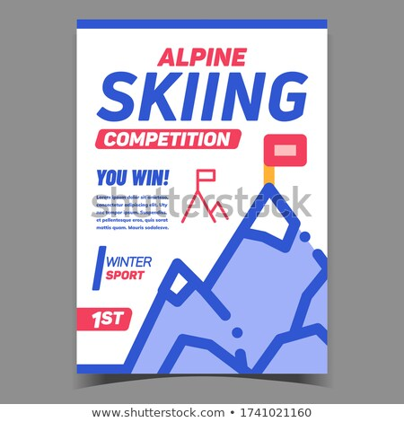 Alpine skiën concurrentie creatieve banner vector Stockfoto © pikepicture