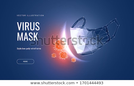 Medische masker bescherming stuifmeel coronavirus 19 Stockfoto © orensila