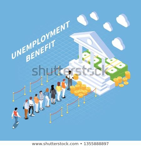 Beneficiar resumen seguridad social protección aplicación forma Foto stock © RAStudio