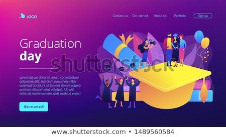Akademicki app interfejs szablon osobowych wzrostu Zdjęcia stock © RAStudio