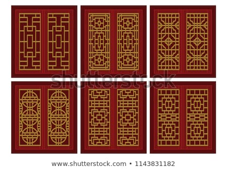 old traditional chinese door stock photo © ansonstock