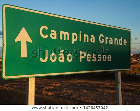 Бразилия шоссе знак зеленый облаке улице знак Сток-фото © kbuntu