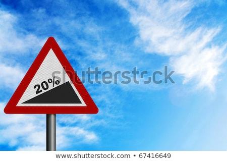 Adósság csökkentés jelzőtábla zöld autópálya tábla felhő Stock fotó © kbuntu