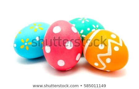 Pollo huevo de Pascua cute pequeño pie primavera Foto stock © johnnychaos