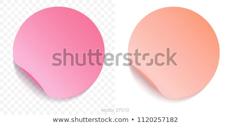 Pink rounded bent sticker or label  stock photo © Arsgera