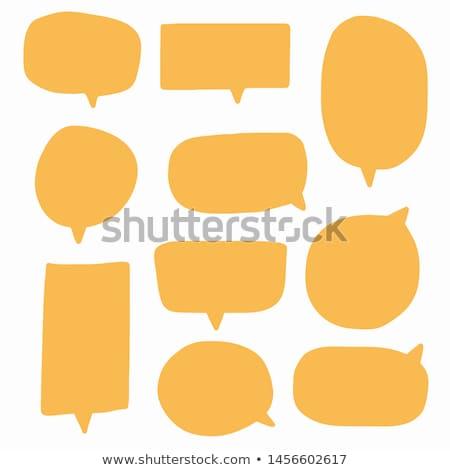речи пузырь коллекция Vintage бумаги текстуры дизайна Сток-фото © adrian_n