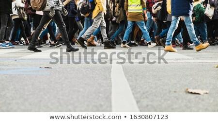 Voetganger haast mensen bewegende beweging menigte Stockfoto © photocreo